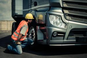 33894253 - truck driver preparing his truck