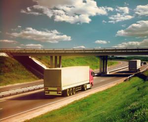 46592715 - trucks on a road