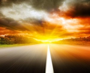 5474782 - blur road and dramatic sky